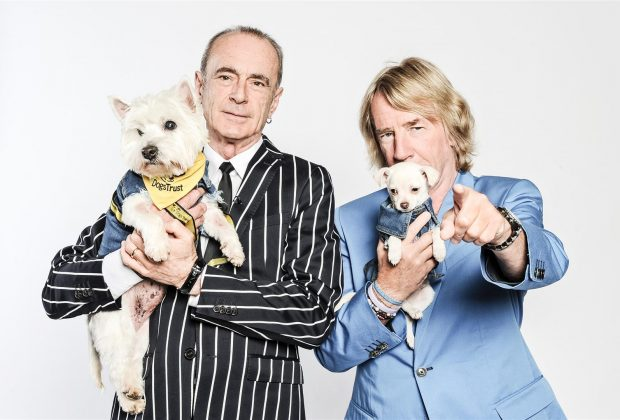 Status Quo and denim clad homeless hounds at Dogs Trust West London laun...