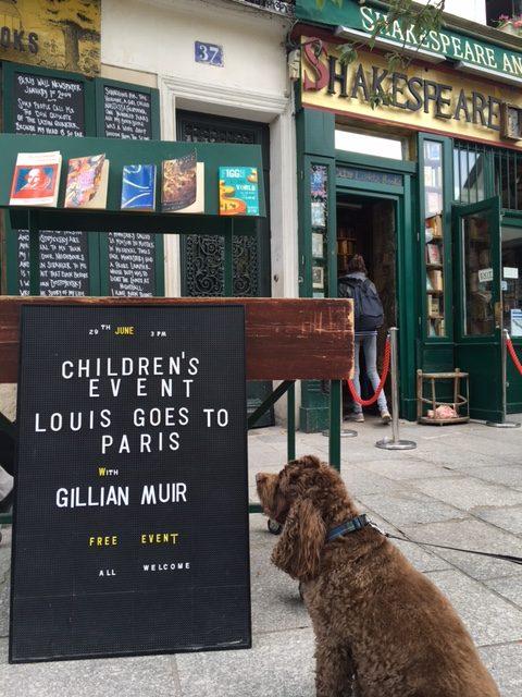 Event at a book shop in Paris