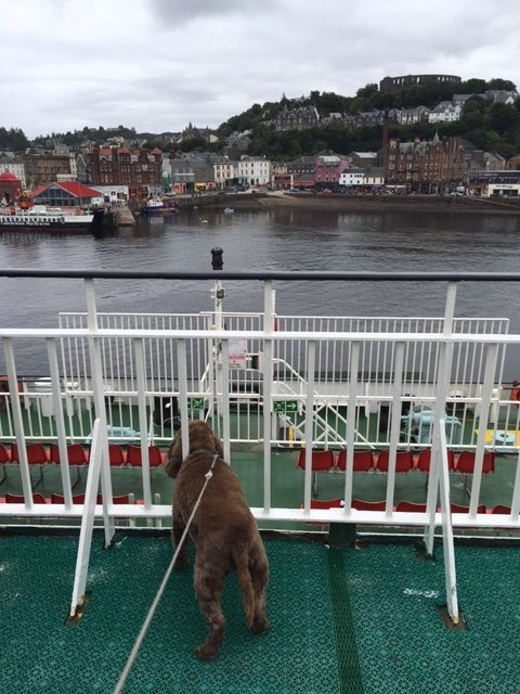 Leaving Oban on a ferry