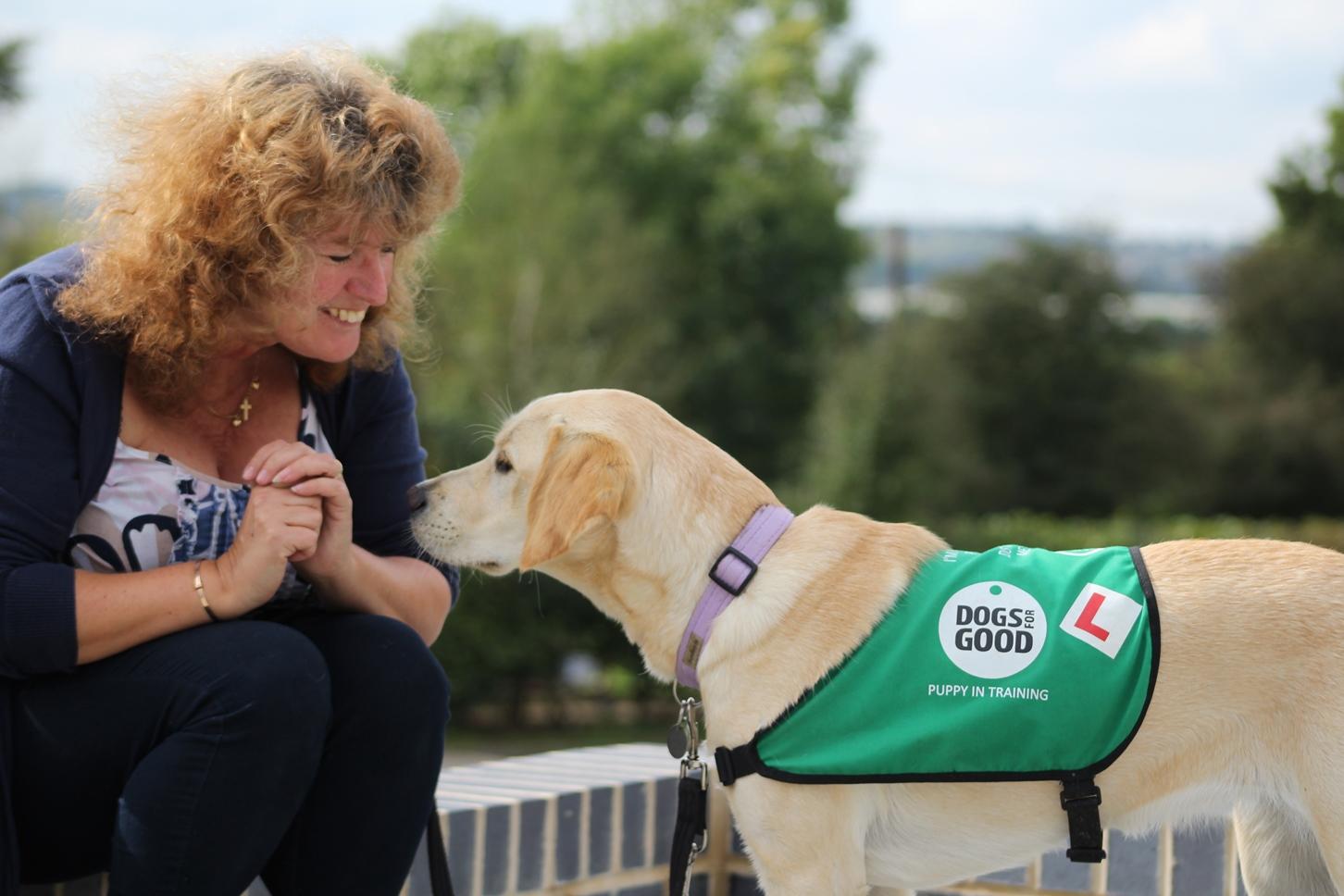 Neave with puppy socialiser Annie Rourke