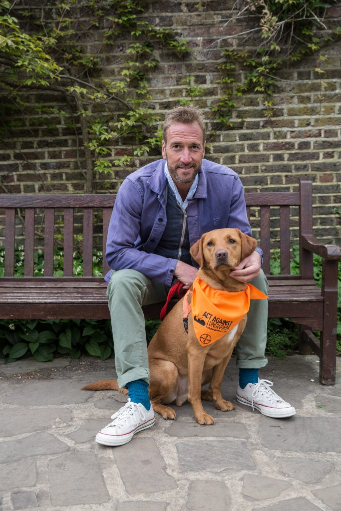 Ben Fogle with Theo