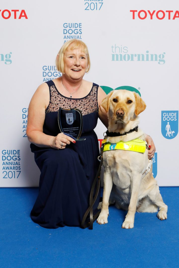 Louise Jenkins and guide dog Trinity