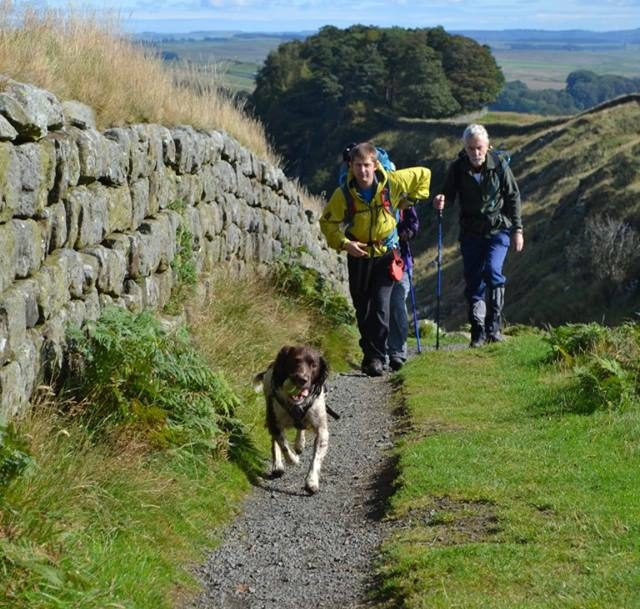 The trio take on Hadrian's Wall