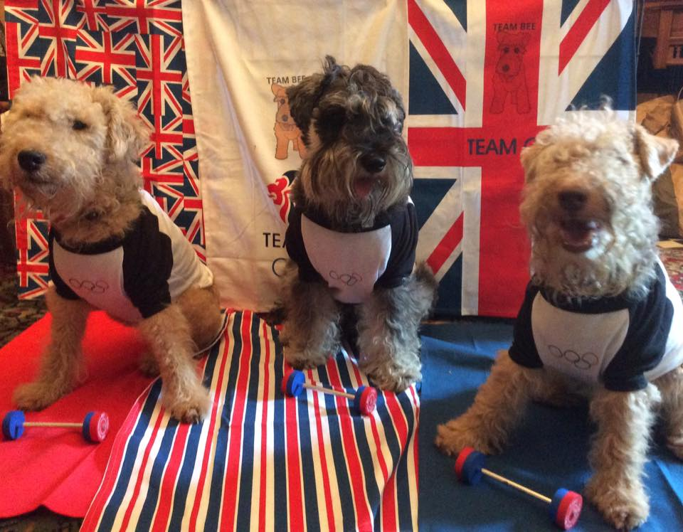 Herman, Hector and Wilson, UK. Weight lifting