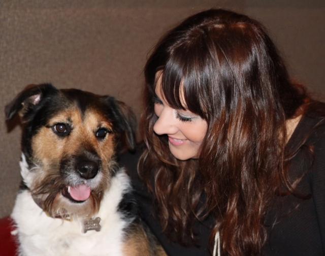 Rumer with her dog Alfie