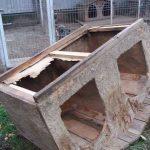 Old, worn away kennel