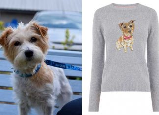 Flora with her jumper, available from Oasis