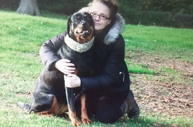 Tracey with Rottweiler Susie-Hope