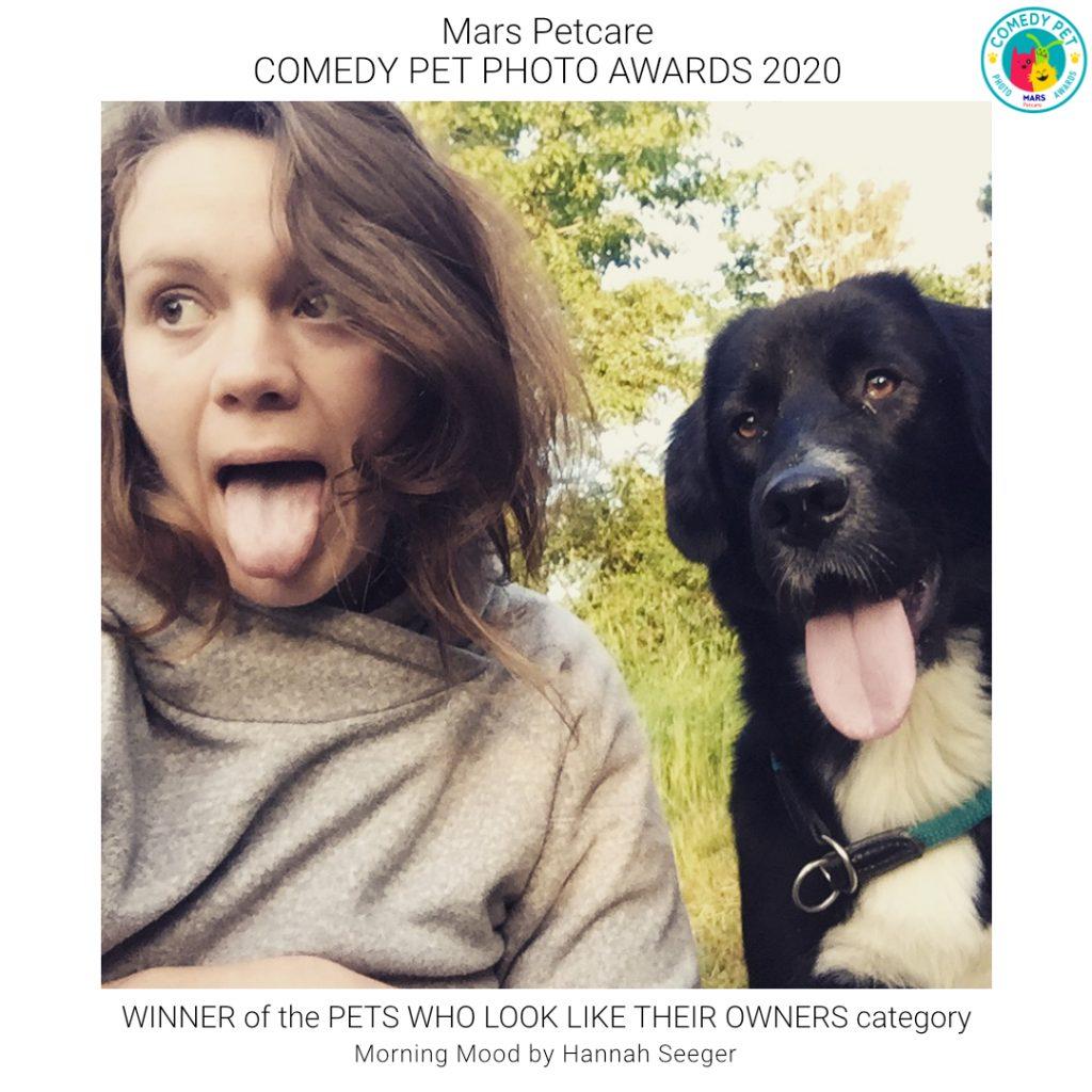 Comedy pet photo awards entry