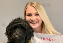 Pup Boris with Keeleigh