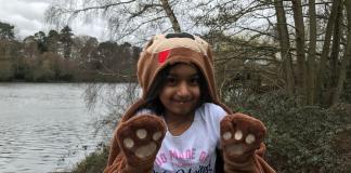 Six-year-old Daya ran 30km for animals